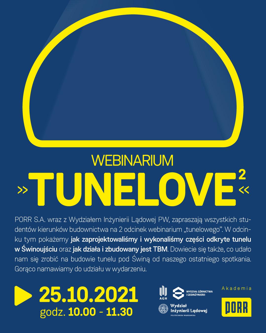 """[Aktualizacja] Akademia PORR – Webinarium """"TUNELOVE"""" cz.2"""